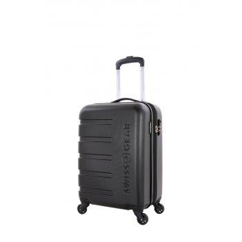 Чемодан swissgear tyler, черный, абс-пластик, 35 x 25 x 55 см, 37