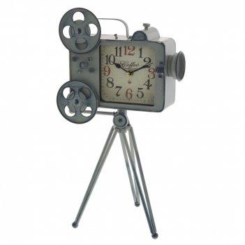Часы настольные декоративные кинопроектор, l25,5 w22 h43 см, (1хаа не прил