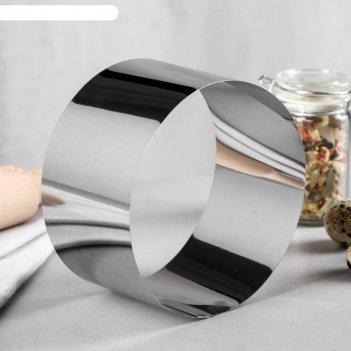 Форма для выпечки и выкладки круг, h-6,5, d-12 см