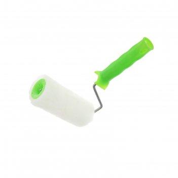 Валик из натурального меха с ручкой, 150 мм, ворс 12 мм, d - 48 мм, d ручк