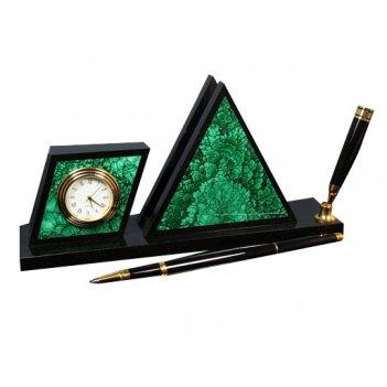 Настольный прибор часы визитница