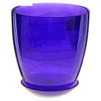 Горшок для цветов гармония d=15,5 см, поддон, фиолетовый, алебастр