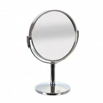 Зеркало настольное двустороннее, l11 w17 h15 см, (б/инд.уп)
