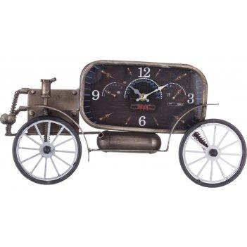Часы настенные (кварцевые) ретро-автомобиль 43*8*21,5 см циферблат 21*11 с