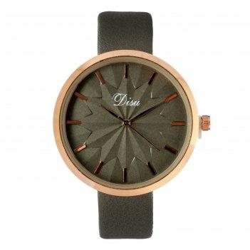 Часы наручные женские disu, ремешок из экокожи, серые