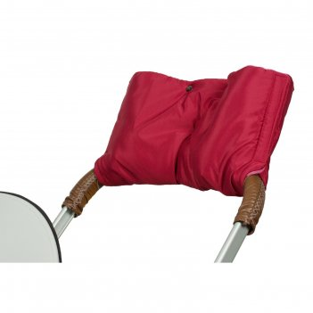 Муфта для рук на коляску флисовая (на липучке), цвет вишнёвый мкф11-001
