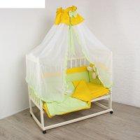 Комплект в кроватку цыпленок (7 предметов), цвет зелёный 30134