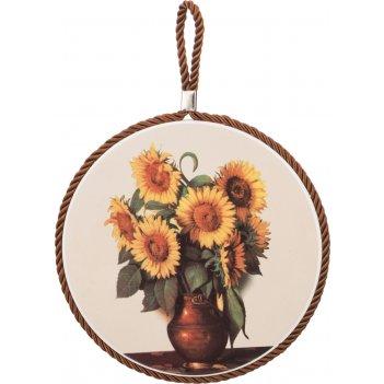 Подставка под горячее хризантема диаметр=17 см.(...