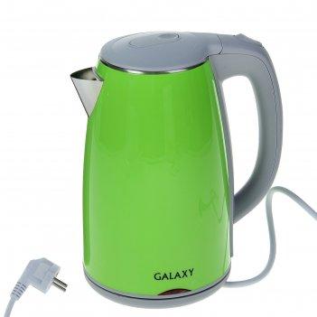 Чайник электрический galaxy gl 0307, 2000 вт, 1.7 л, зеленый