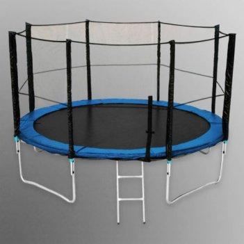 Батут для дачи пружинный детский unix 6 ft с сеткой и лестницей