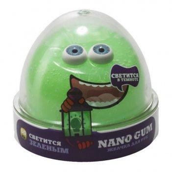Жвачка для рук nano gum светится зеленым, 50 гр