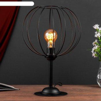 Настольная лампа 3604 1хe27 60вт черный