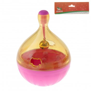 Игрушка-неваляшка под лакомства (размер лакомств до 1,2 см), 9,5 х 13,5 см