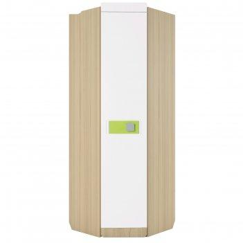 Шкаф угловой «стиль 3», 700 x 700 x 2040 мм, цвет туя светлая / лайм