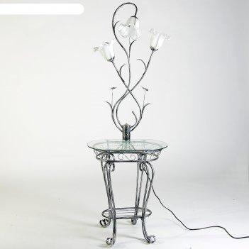 Светильник напольный b082b со столиком колокольчики е27 40w 100х42х22 см