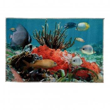 Коврик для ванной коралловый риф