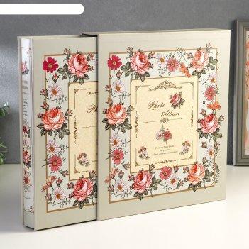 Фотоальбом на 500 фото 10х15 см цветочный ковёр в коробке микс 33,5х30х6 с