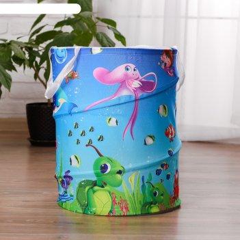 Корзина для хранения игрушек «доброта» 35x35x45 см