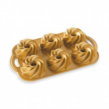 Форма для выпечки 6 кексов «праздничные пироги», объем: 1 л, материал: алю