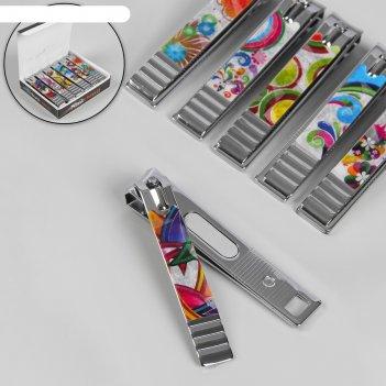 Кусачки-книпсер педикюр с пилкой, 8см, цвет микс