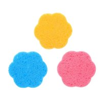 Спонж для умывания цветок, 3 шт, цвета микс