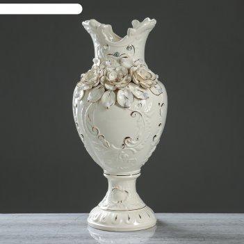 Ваза напольная астория белая, 52 см