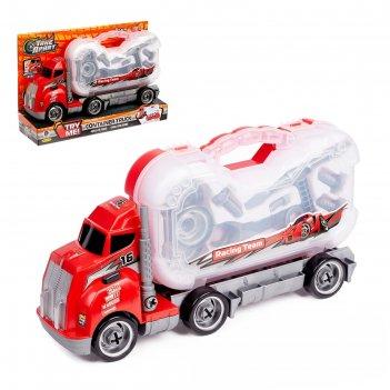 Конструктор грузовик с чемоданом инструментов, звуковые эффекты