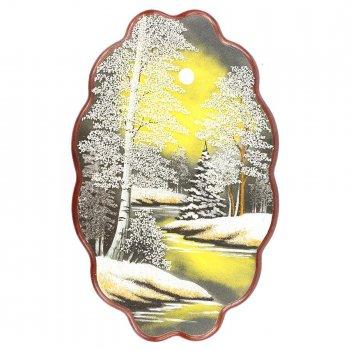 Панно зимняя ночь №4 вертикальное (45х29 см) в ассортименте