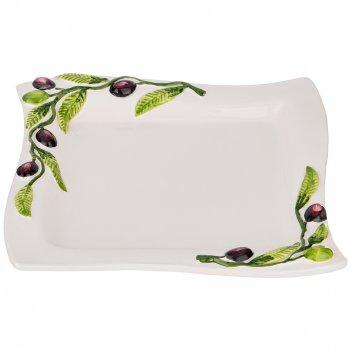 Блюдо сервировочное оливки 25х25см