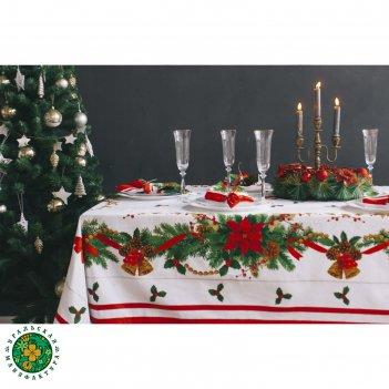 Столовый набор этель рождественский бал скатерть 220х150 см, салфетки 40х4