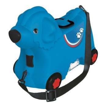 Чемодан детский на колёсиках, синий