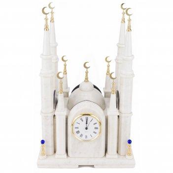"Часы ""мечеть"" большая мрамор"
