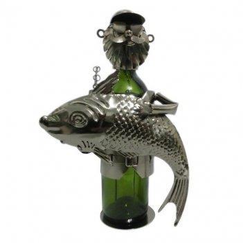 Подставка для бутылки рыбак, l19,5 w12 h23 см