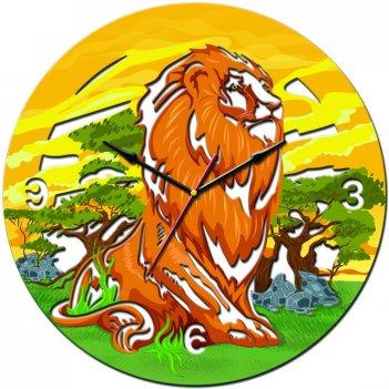 Часы настенные tiarella царь зверей
