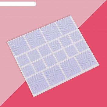 Трафареты для декора «квадраты», 2 вида