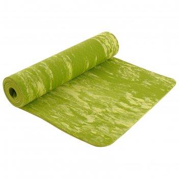 Коврик для йоги 183х61х0,8 см, цвет зеленый