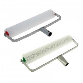 Валик игольчатый  для наливных полов с ручкой, 400 мм// россия