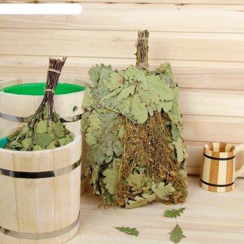 Веник для бани экстра из кавказского дуба с донником