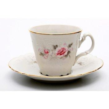 Набор для чая роза серая(чашка160мл.+блюдце) на 6перс.12пред. выс.