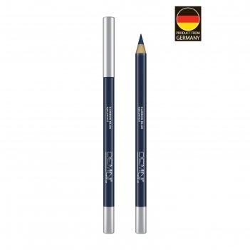Карандаш для глаз demini make up eye pencil, № 03 carbon blue, графитово-с