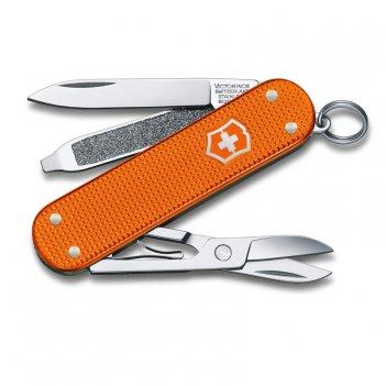 Нож-брелок victorinox classic alox le 2021, 58 мм, 5 функций, алюминиевая