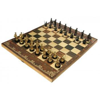 Шахматы исторические полтава с фигурами из черненого цинкового сплава