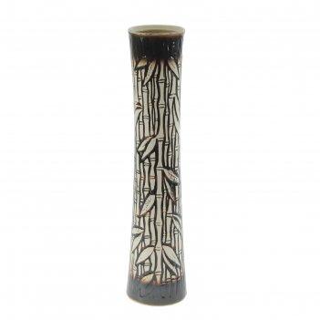 Ваза напольная форма виола бамбук коричневая