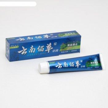 Зубная паста китайская традиционная на травахотбеливающая с женьшенем 100