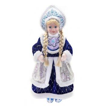 Кукла снегурочка 43 см под елку, син.