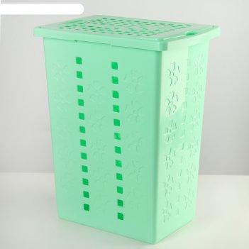 Корзина для белья 30 л виолетта, зеленая