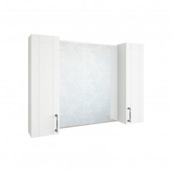 Шкаф-зеркало глория 105 белый матовый