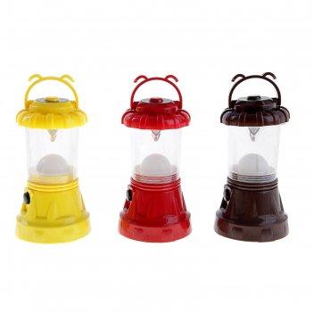 Фонарик переносной лампа 9 диодов, цвета микс