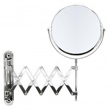 Зеркало косметическое подвесное anna, 1х/5х, цвет хром