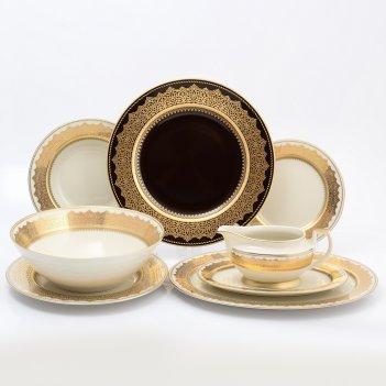 Столовый сервиз на 6 персон 25 предметов agadir brown gold